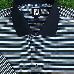 Footjoy Mens Navy Blue Striped Golf Polyester